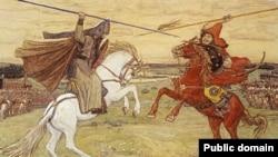"""Виктор Васнецов. """"Поединок Пересвета и Челубея"""", 1914."""