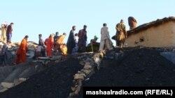 Pamje e pjesës së jashtme të një miniere të thëngjillit në Pakistan
