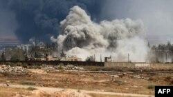 Sulme ajrore në Aleppo