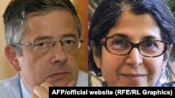 French academics Roland Marchal (left) and Fariba Adelkhah (file photo)