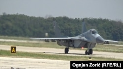 Slovakia has grounded its fleet of MiG-29s until an investigation into the cause of the crash is completed. (file photo)
