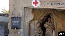 На опорной базе британских войск Camp Bastion в Гельменде