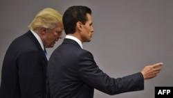Дональд Трамп и Энрике Пенья Ньето.
