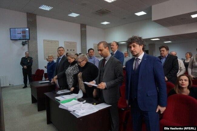 Дмитрий Григориади и �лек�андр Хуруджи в �уде по делу предпринимател� Елены Хамбуровой
