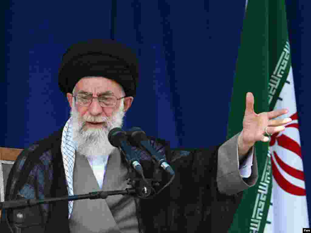 Supreme Leader Ayatollah Ali Khamenei offered his early endorsement to conservative incumbent Mahmud Ahmadinejad.