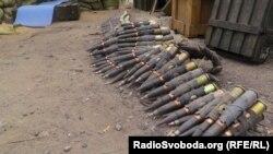 На блокпосту украинских военных под Славянском.