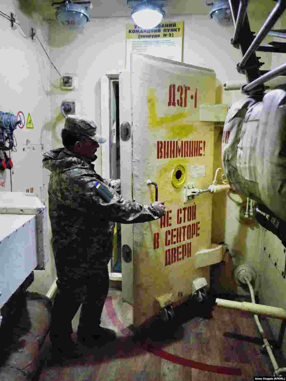...behind a 750-kilogram steel door…