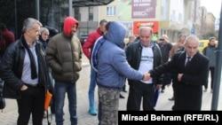 Protest ispred sjedišta HDZ-a BiH u Mostaru