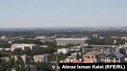 Pamje nga një pjesë e kryeqytetit Bishkek në Kirgizi