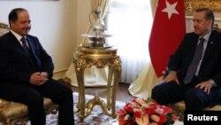 لقاء بارزاني اردوغان في انقره حزيران 2010