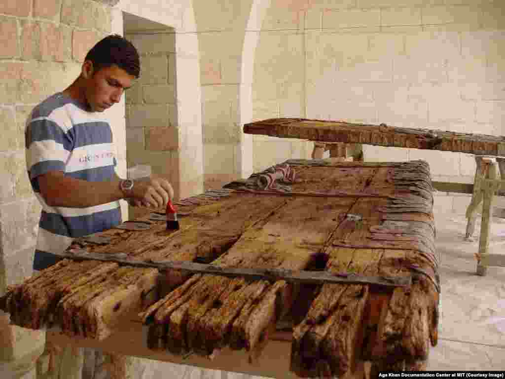A young Syrian working on restoration of an ancient doorway in 2004. When Hafez al-Assad's son Bashar was sworn in as president in 2000, there was hope that tensions building in Syria might ease, especially after the newly sworn-in Alawite head of state married a British-born Sunni woman. But he entered power as a population explosion in Syria was beginning to bite. Under Bashar al-Assad, the repression soon continued apace.