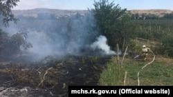 Пожар в селе Заветное