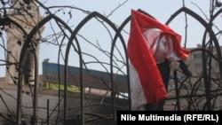 اثار الحريق في محيط رابعة العدوية