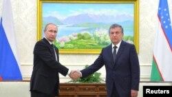 Шавкат Мирзиёев Орусиянын президенти Владимир Путин менен. 6-сентябрь, 2016-жыл