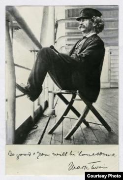 Марк Твен на палубе