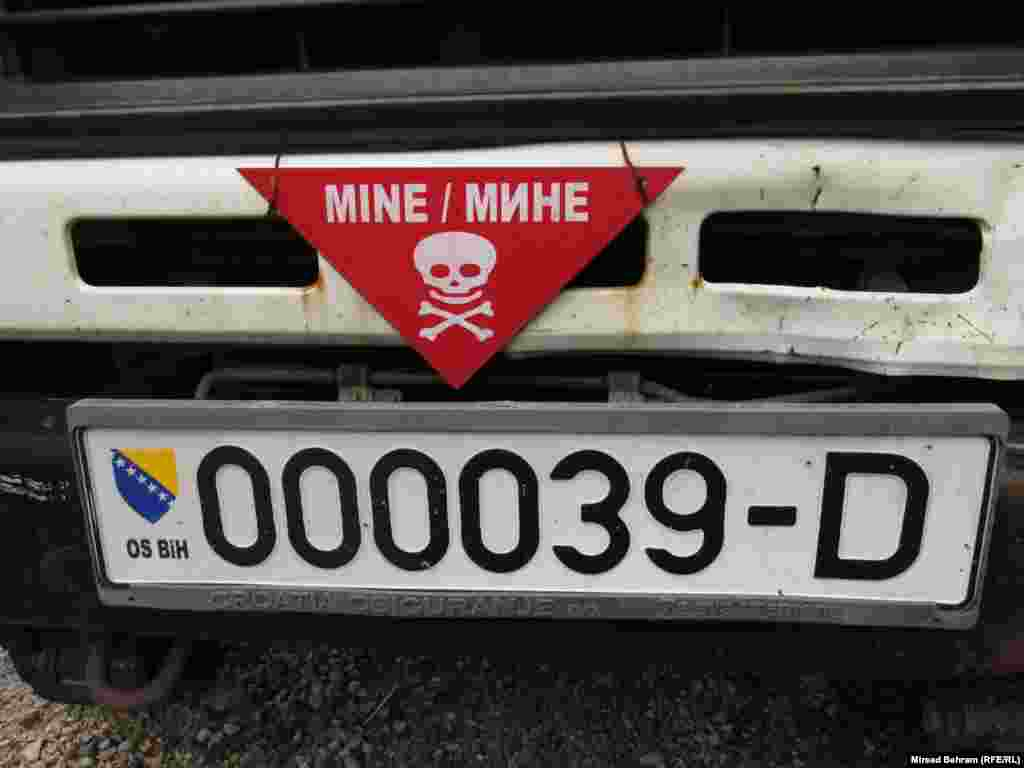 Land mines found near Mostar
