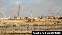 Azerbaijan -- Construction of the Baku Olympic Stadium in Baku - 06Feb2013