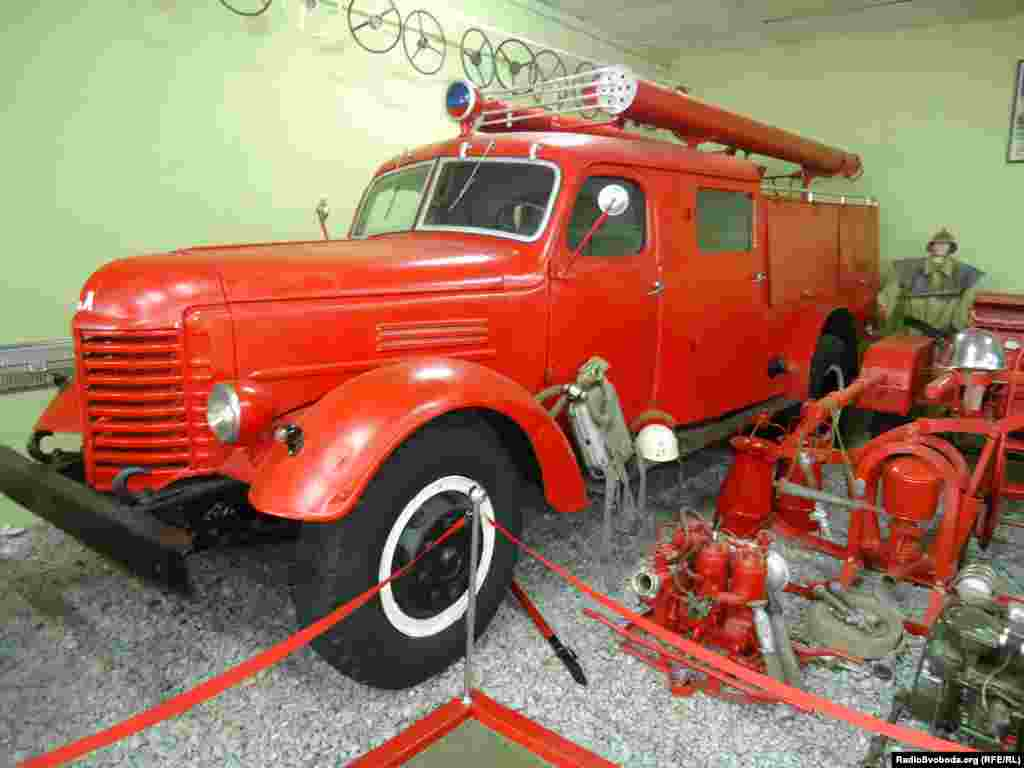 A Soviet GAZ-51 fire engine from the Gorky Automobile Plant (GAZ)