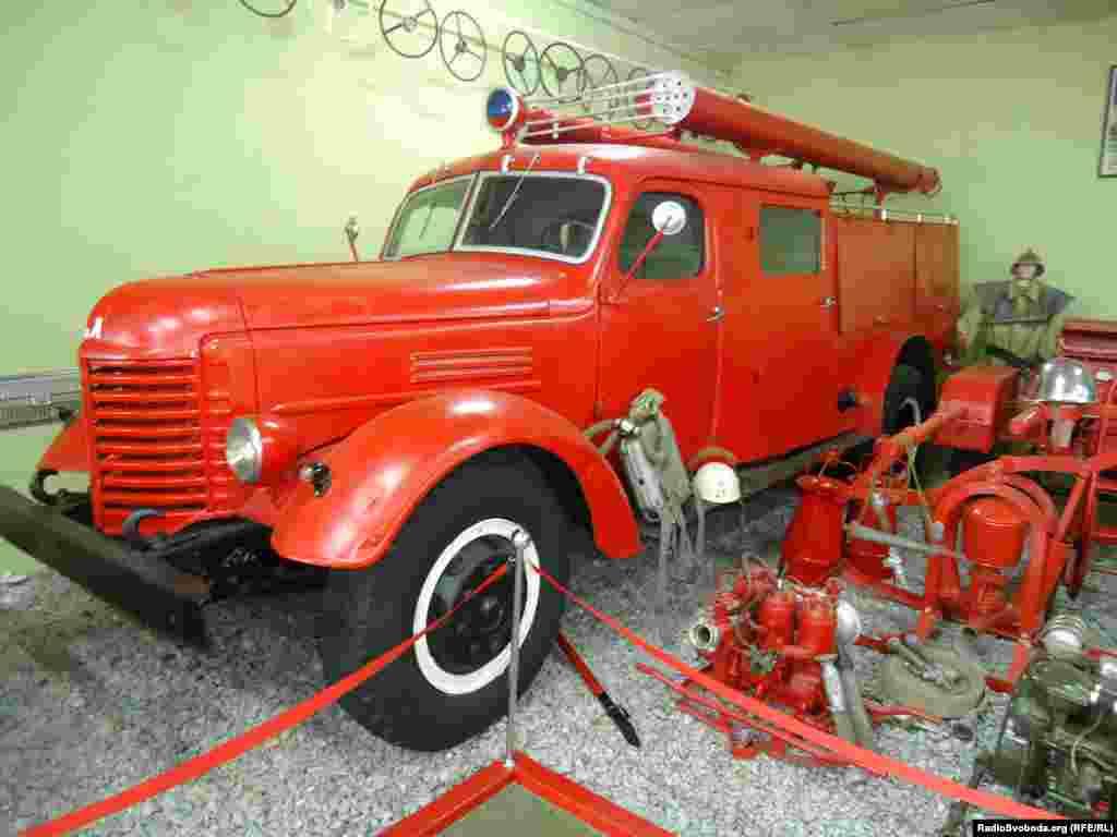 A Soviet GAZ-51 fire engine from the Gorky Automobile Plant (GAZ)