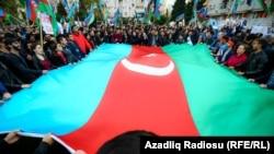 Азербайжандагы оппозициянын митинги.