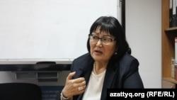 Председатель общественного фонда «Аман-саулык» Бахыт Туменова. Алматы, 28 ноября 2016 года.