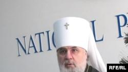 Митрополит Астанайский и Алматинский Мефодий на предрождественской пресс-конференции. Алматы, 6 января 2009 года.