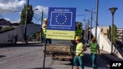 Rekonstrukcija mosta na Ibru, Mitrovica, 2015.