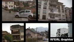 Колаж од фотографии од домовите на пратениците кои гласаа за уставни измени