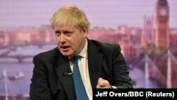 British Foreign Secretary Boris Johnson attends the BBC's Marr Show in London, April 15, 2018