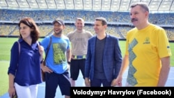 Ветерани на тренуванні (Володимир Гаврилов крайній праворуч)