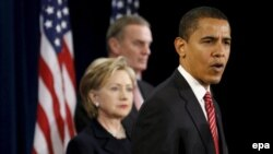 Barack Obama (right) and his future foreign-policy team, Hillary Clinton and General James Jones, will have much to do in South Asia.