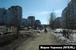 Одна из центральных улиц Усть-Илимска