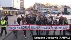 Sa protesta u Nišu