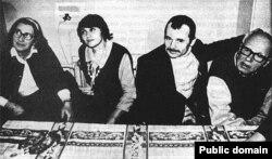 Олена Боннер, Сафінар Джемілєва, Мустава Джемілєв та Андрій Сахаров