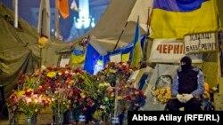 Украина -- Евромайдан бийлик алмашкандан кийин. Киев, 24-февраль, 2014
