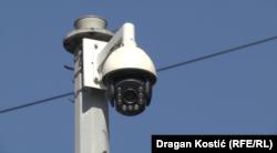 Камеры видеонаблюдения производства Huawei на улице Белграда