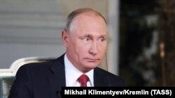 Владимир Путин во время интервью ORF. Москва 1 июня 2018. Фото ТАСС