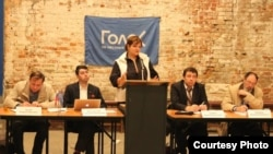 "Александра Крыленкова на пресс-конференции ""Голоса"""