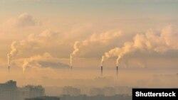 Илустрација- емисии на јаглероден диоксид во воздухот