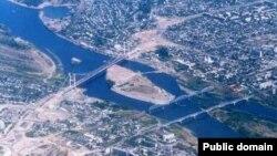 Расположенный на берегах Иртыша город Семей.