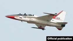 Снимок учебно-военного самолета T-50, опубликованный газетой Korea Times.