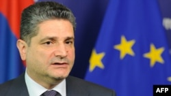Премьер-министр Армении Тигран Саргсян. Брюссель, 19 сентября 2011 года.