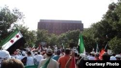 مظاهرة لمعارضين سوريين في واشنطن