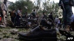 Кабулдагы жанкечтинин жардырусуунан кийинки көрүнүш. 11-июнь, 2013