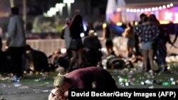 În timpul atacului de la Las Vegas, 1 octombrie 2017
