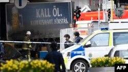 Поліція на місці нападу, Стокгольм, Швеція, 7 квітня 2017 року