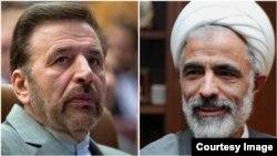 مجید انصاری٬ معاون پارلمانی رئیس جمهوری ایران و محمود واعظی٬ وزیر ارتباطات و فناوری اطلاعات