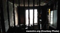 """Последствия поджога офиса """"Мемориала"""" в Ингушетии"""