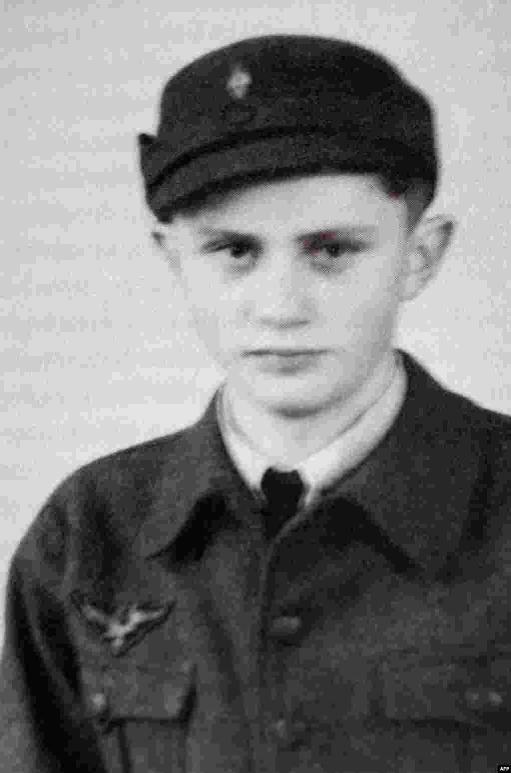 A photo taken in 1943 during World War II shows Joseph Ratzinger as a German Air Force assistant.
