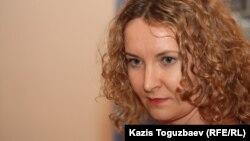 """""""Голос республики"""" газетінің бас редакторы Татьяна Трубачева. Алматы, 12 желтоқсан 2012 жыл."""